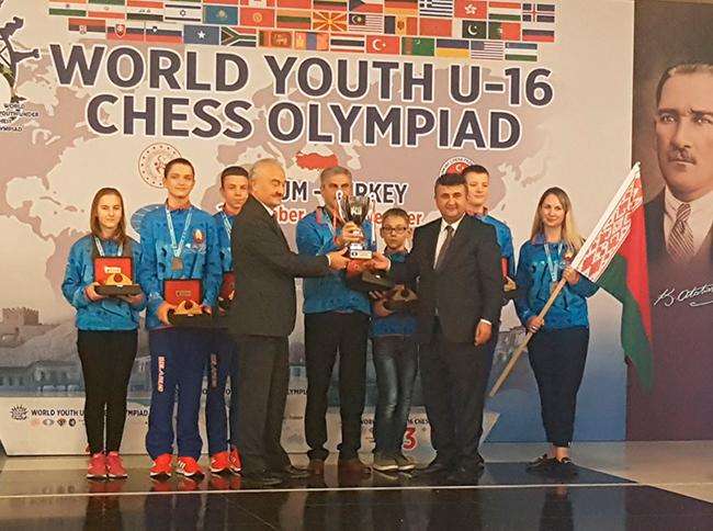 Сборная Беларуси завоевала бронзу на Всемирной юношеской шахматной Олимпиаде